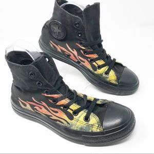 Converse All Star Black Flame High Tops Men Sz 6